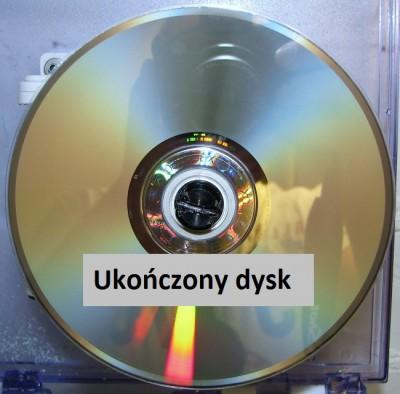 Wypolerowana płyta DVD po zakończonej regeneracji