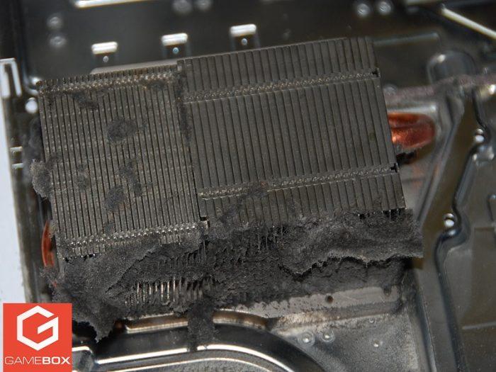 Radiator zatkany kurzem w PS4